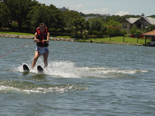 That's real water skiing!!
