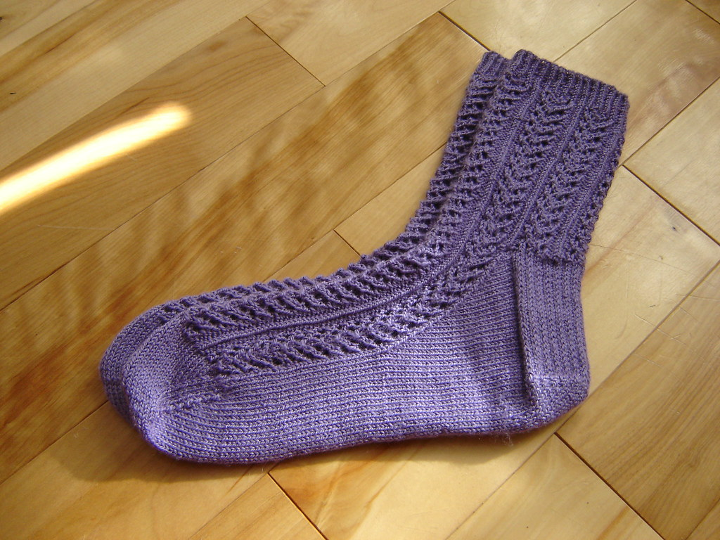 Purple Hedera Socks