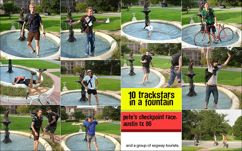 10 trackstars in a fountain