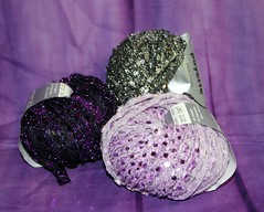 Novelty yarn from vegas- see, it's sparkly