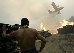 Incendio en la localidad de Redondela (Foto AFP)