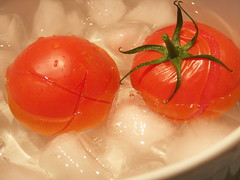 tomatoes in ice