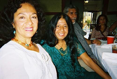 Naomi Quiñonez, Lorna Dee Cervantes & T @ Luz's wedding