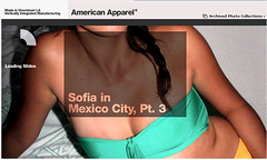 060818 American Apparel home page imagery