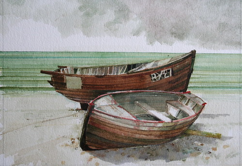 Boats Hastings (Watercolour)