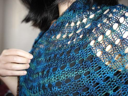 half-pi shawl detail