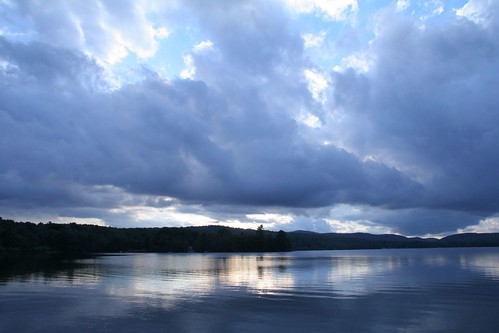 lake and clouds