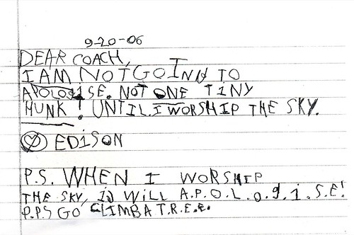 Mad First Grader