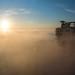 Morning Sunrise and Fog offshore