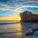 Malibu Sea Cave Sunset! Red, Orange, Yellow Clouds El Matador State Beach PCH California Sunset! God Spilled Buckets of Paint  Nikon D810 AF-S NIKKOR 14-24mm F2.8G ED from Nikon! California Sunsets Elliot McGucken Fine Art Landscape Nature 4K 8K