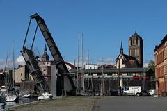 Stralsund, Am Querkanal, Querkanalbrücke, Jakobikirche