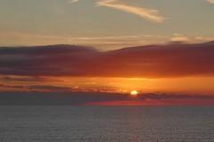 Sunrising over the horizon