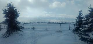 Furry snow pile