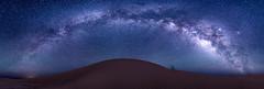 Panorama Duna i Via Làctia