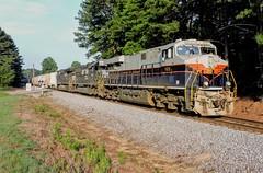 NS 8101 CofG leads NS Train 66M in Temple, GA