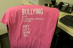 Pink Shirt Day. Trying to stop Bullying.