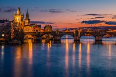 Prague at blue hour