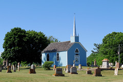 The Blue Church (1845) in Augusta, Ontario
