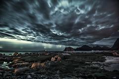 Northern Lights from Flakstad, Lofoten