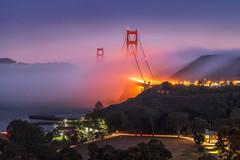 Nightfall over Golden Gate