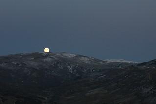 The moon hiding