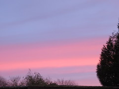 Lever de soleil ce matin. Sunrise this morning.