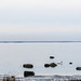 Seascape with rocks in calm water