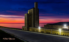 RC Harris Water Filtration Plant before sunrise
