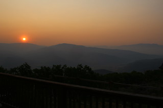 Smoke sunrise