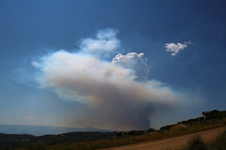 Lambs Canyon / Parlys fire from Rockport