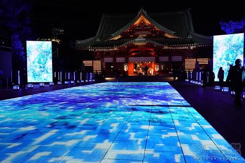 プレイステーション5発売前夜、神田明神にてプロジェクションマッピング