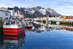 Henningsvær village, Lofoten islands Norway, one of the most beautiful places on Earth