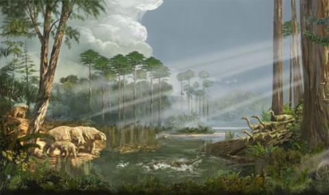 Triassic Landscape, por Karen Carr