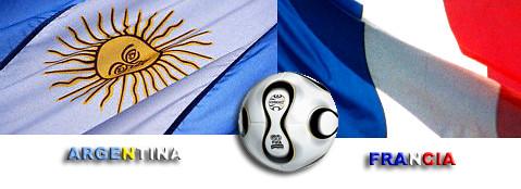 Bandera Francia y Argentina