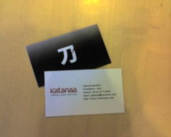 Our new Katanaa business cards
