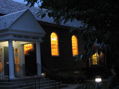 Pelham Library at night 2