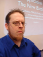 A blurry self-photo before giving a presentation