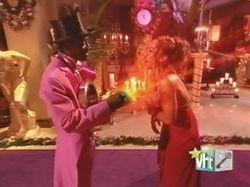 "Flavor Flav and winner Nicole ""Hoopz"" Alexander on VH1's ""The Flavor of Love"" season 1"