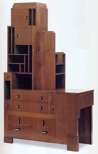 Art deco paul t frankl desk and bookcase for Art et decoration pdf