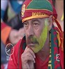 The sorrow of a Portugaise supporter