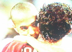 Henry et C Ronaldo post match