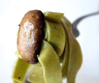 Garlic Mushroom Tagliatelle