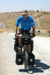 Martin on bike in mt. Nemrud area