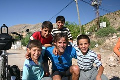 Martin and kids from village in eastern Turkey