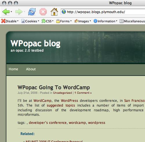 WPopac blog