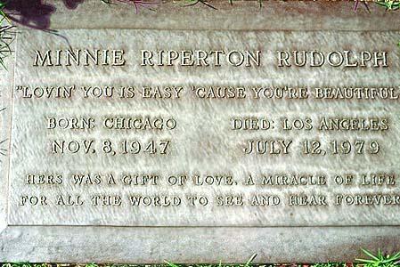 Minnie Riperton 墓碑照