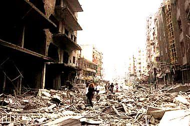 imagen de Beirut tras los bombardeos de Israel