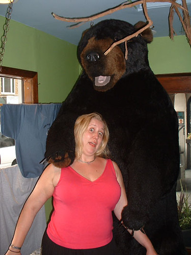 Beth being attacked by a bear