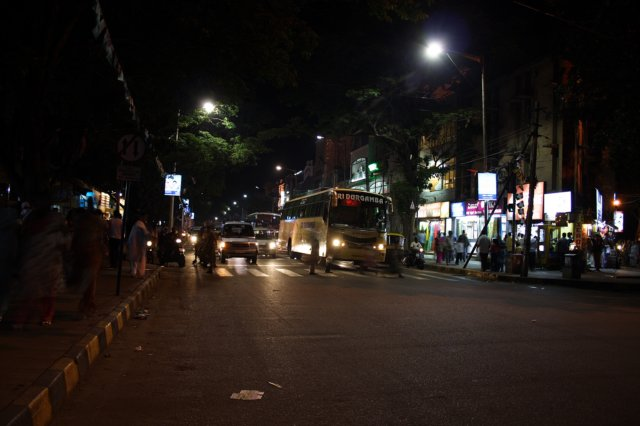 Jayanagar at night