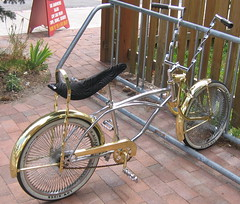 gold flaired bike